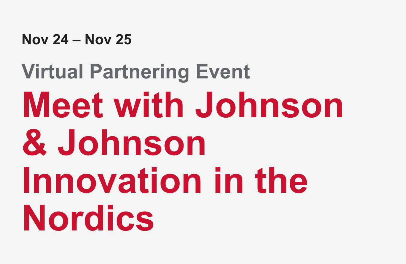 Meet with Johnson & Johnson Innovation in the Nordics